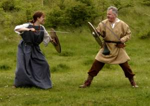 Male/female swordfight
